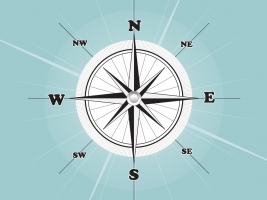 267x200 Compass Rose Free Vector Graphic Art Free Download (Found 1,683