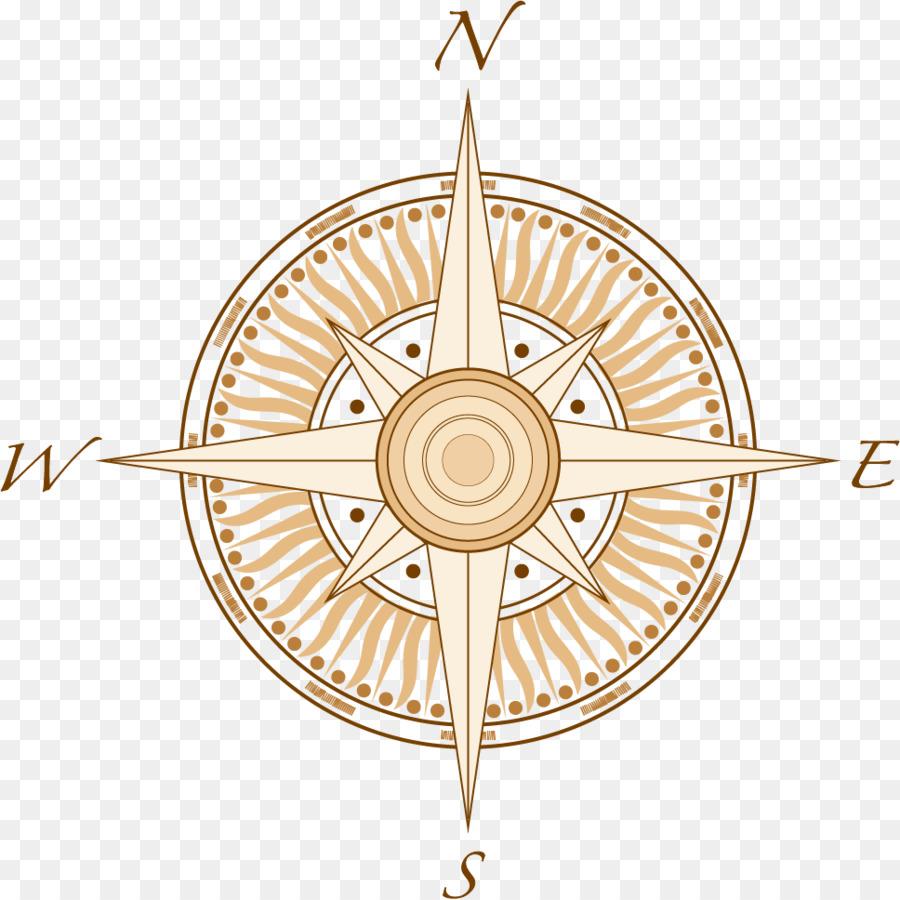 900x900 North Cardinal Direction Compass Clip Art