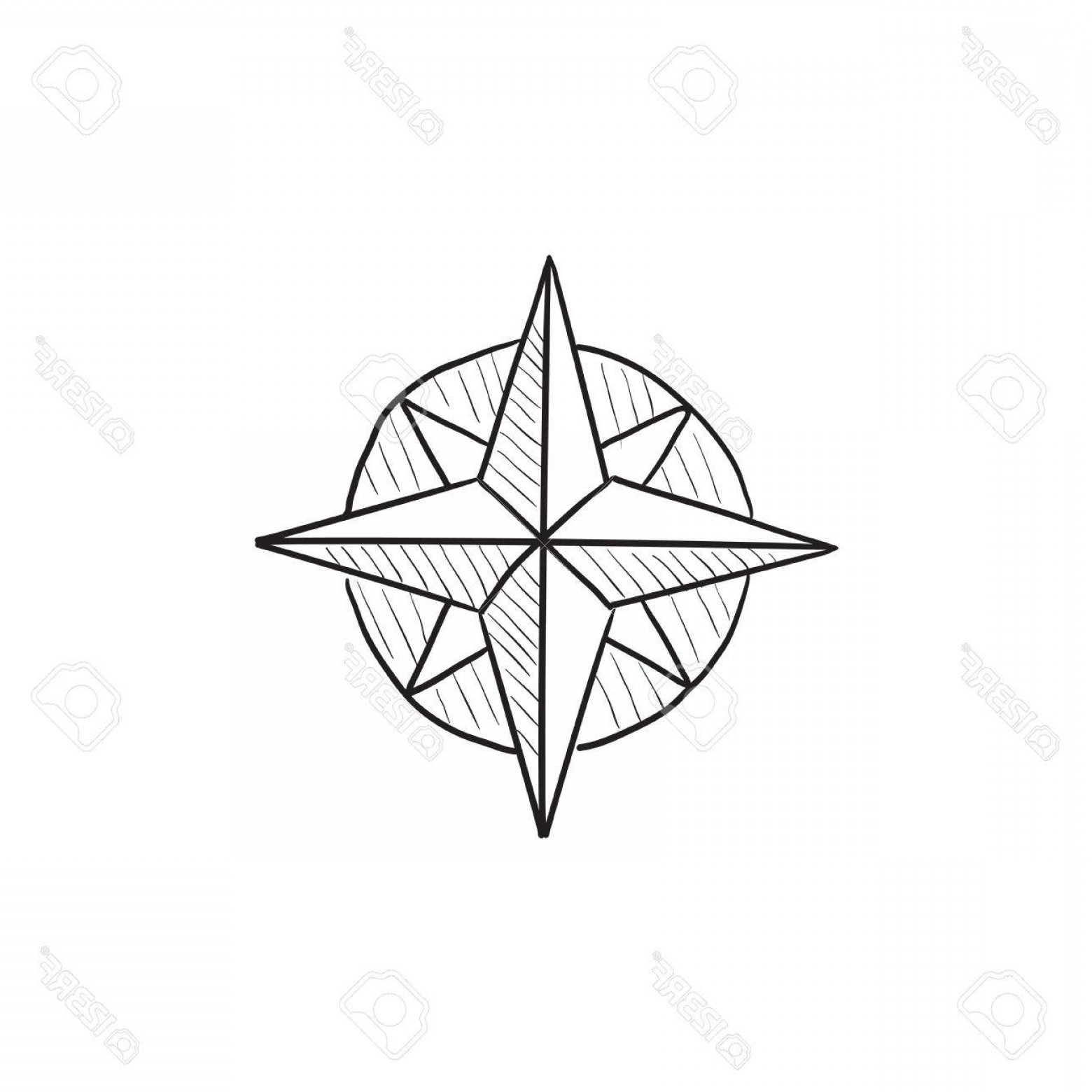 1560x1560 Photostock Vector Compass Wind Rose Vector Sketch Icon Isolated On