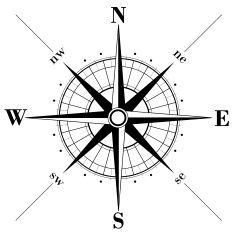 235x235 Black Compass Rose Vector Art Illustration Logos