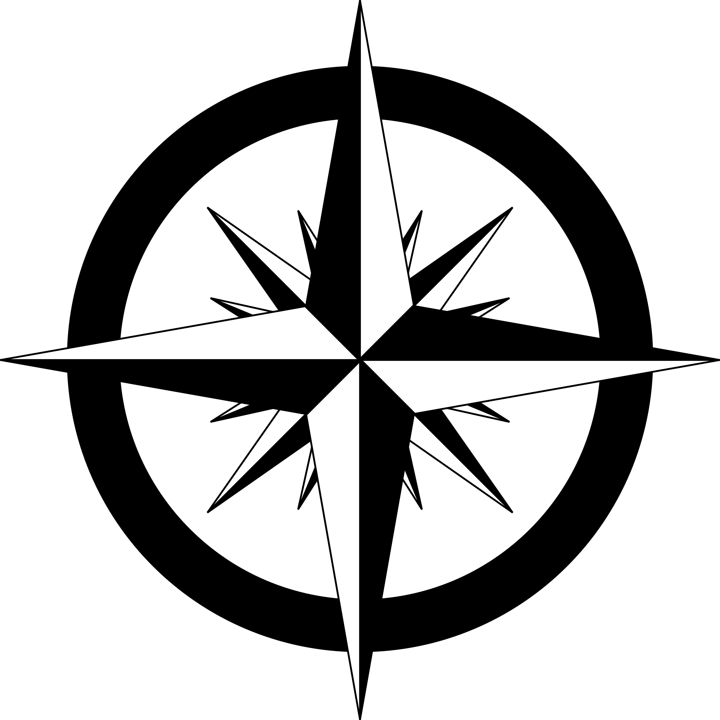 2400x2400 Compass Rose Vector Clipart Image