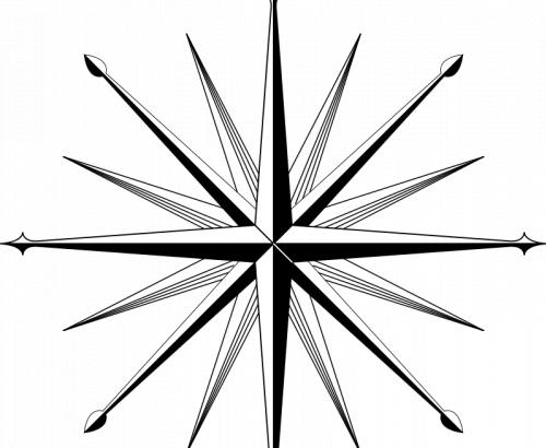 500x410 Compass Rose Vector Image Free Download Files
