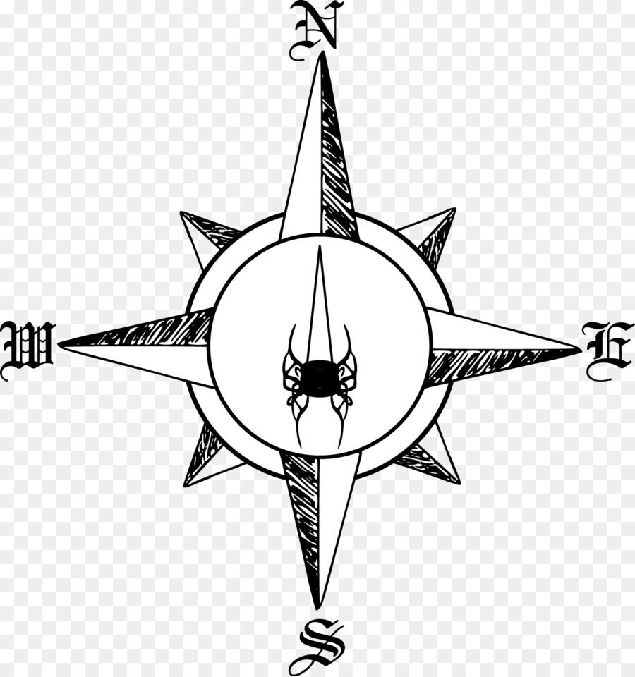 900x960 Compass Rose North Clip Art