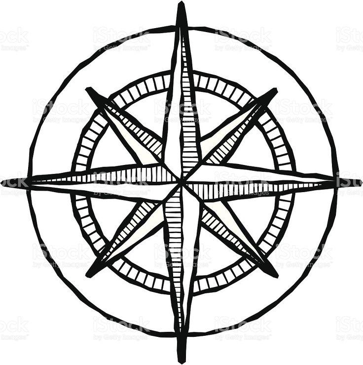 736x739 Drawn Compass Simple Black 3291736