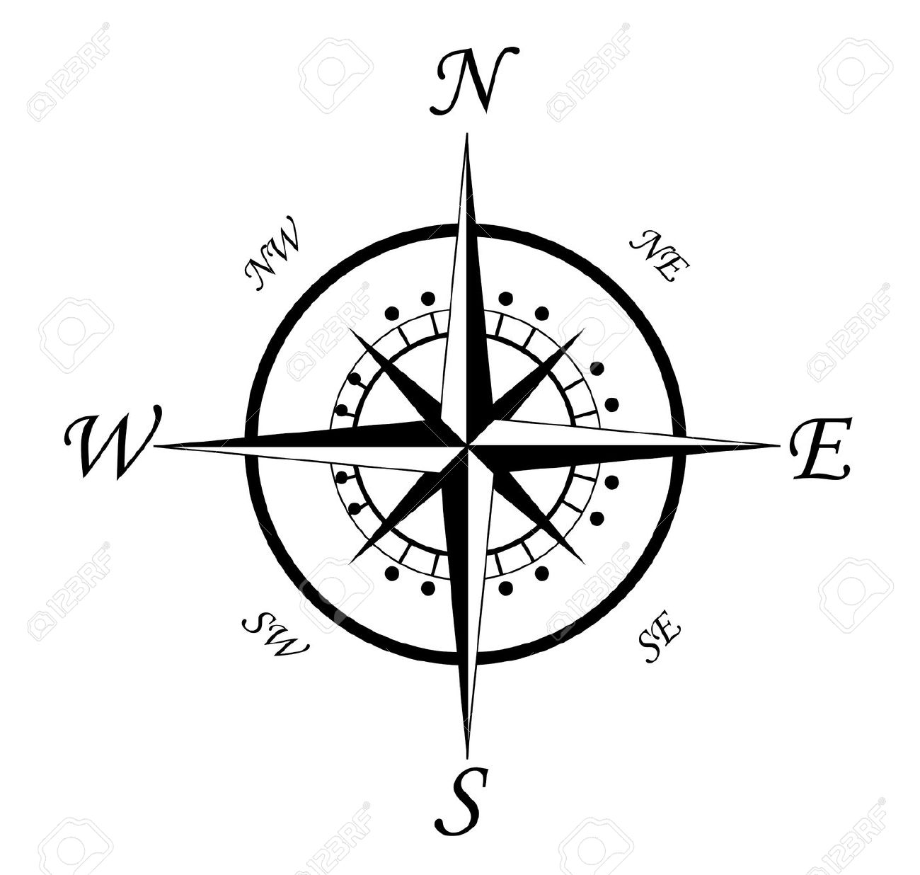1300x1236 Free Clipart Compass Rose Line Drawing