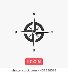 260x280 Simple Compass Rose Vector Free Download