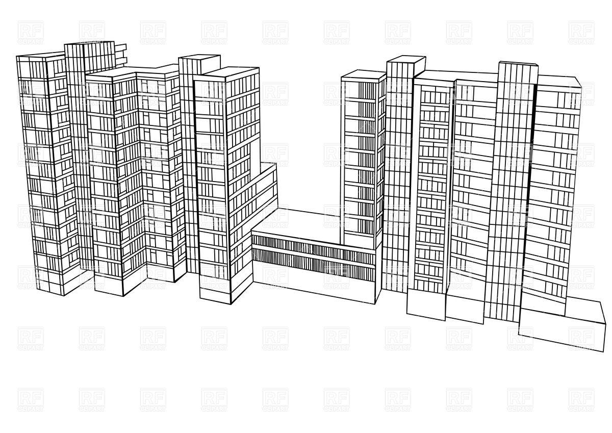 1200x849 Scheme Of A Housing Complex Vector Image Vector Artwork Of
