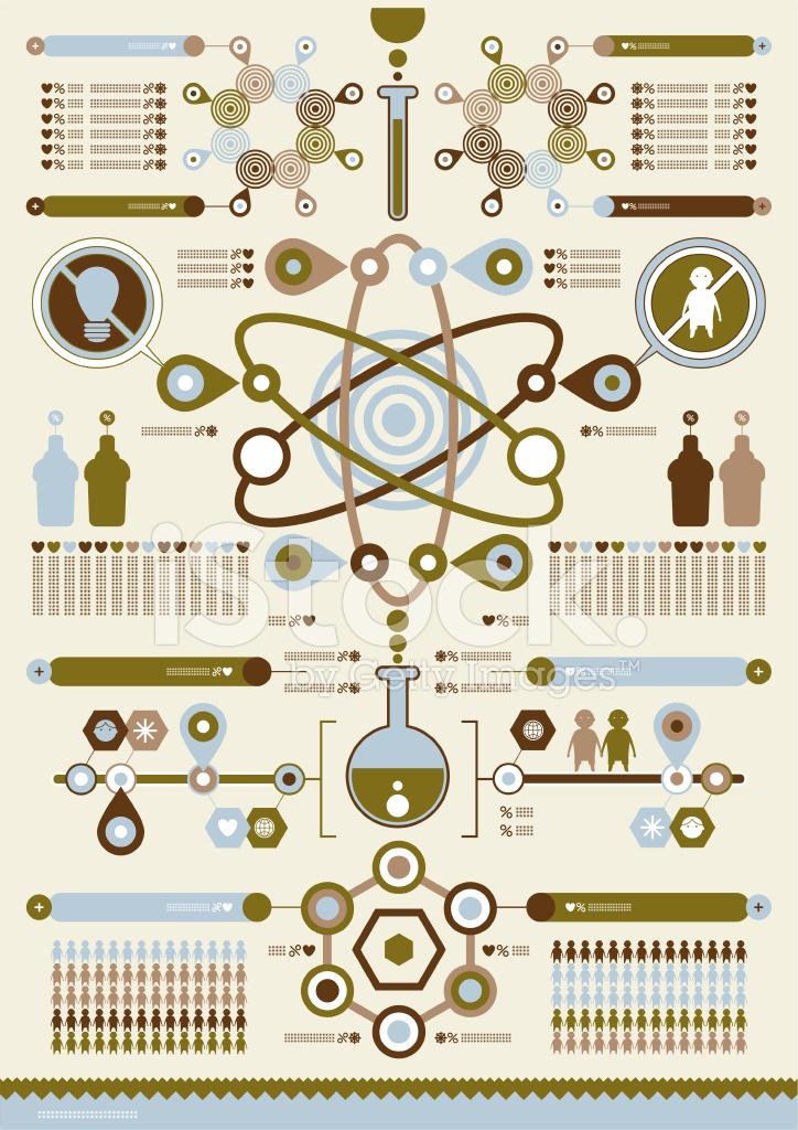 724x1024 Science Vector Complex Infographics Stock Vector