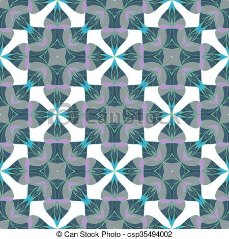 450x470 A Complex Vector Seamless Floral Pattern. To Decorate Paper