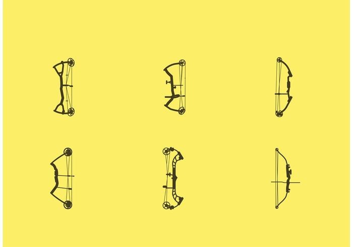 700x490 Compound Bow Vectors On Yellow