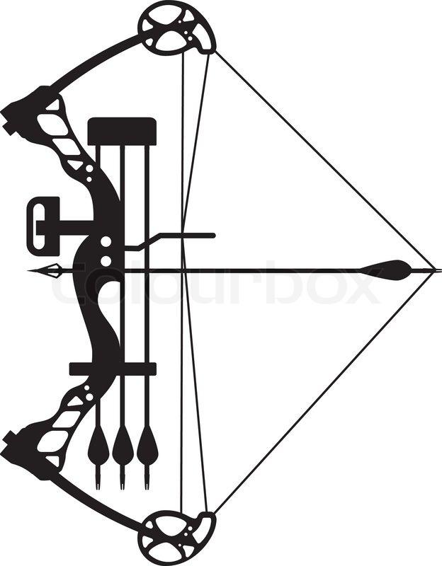 624x800 Compound Bow And Arrow Stock Vector Colourbox