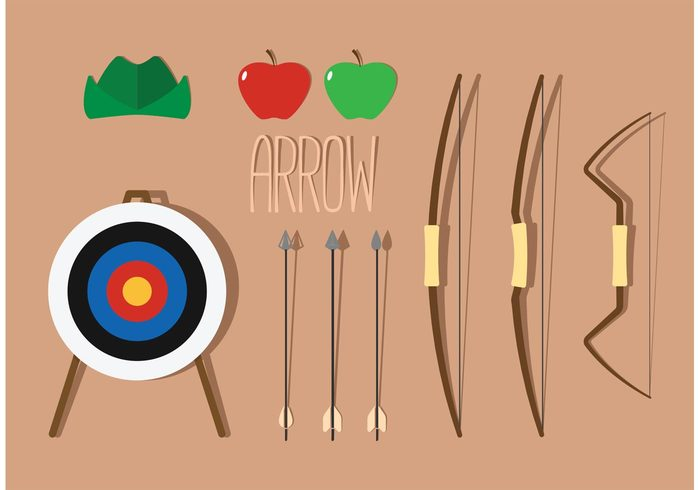 700x490 Free Vector Compound Bow Vector Pack