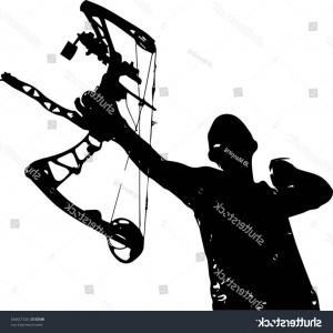 300x300 Stock Illustration Compound Bow Arrow Modern Hunting Vector