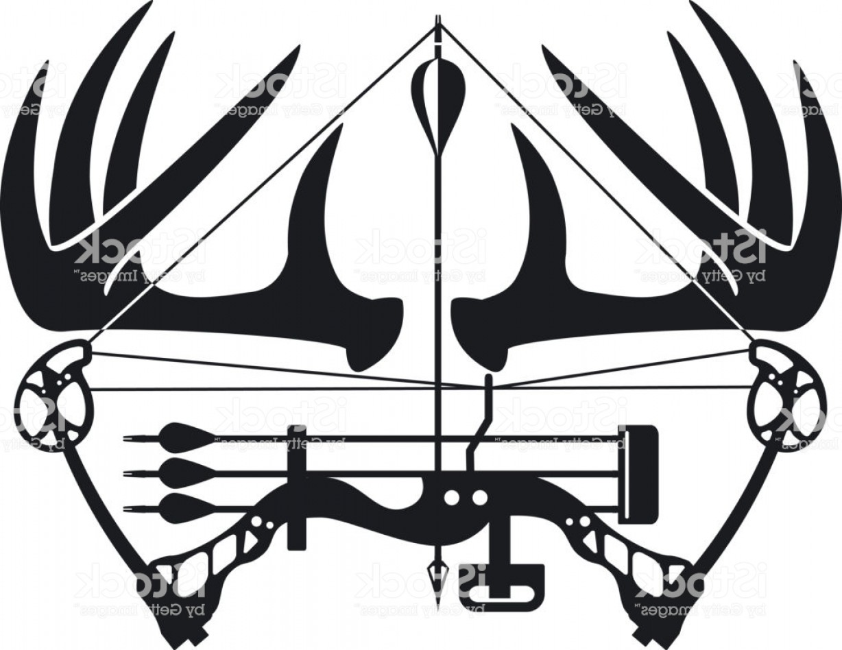 1228x948 Whitetail Buck Antlers And Compound Bow Gm Shopatcloth