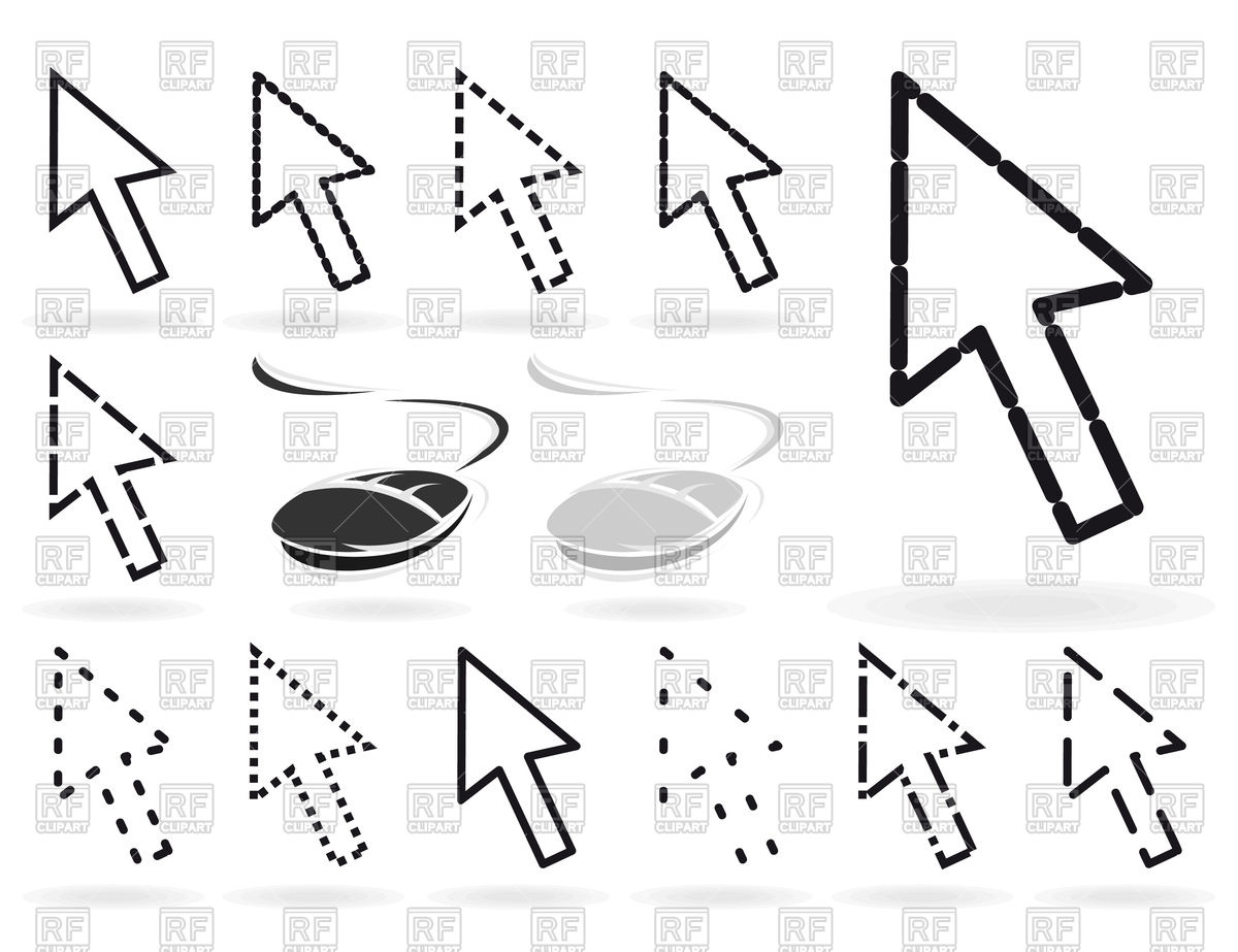 1200x923 Set Of Arrow Cursors And Mice For Computer Vector Image Vector