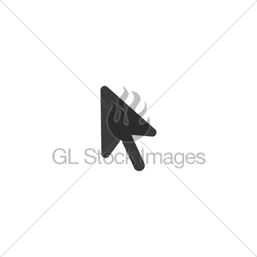 500x500 Vector Black Computer Mouse Arrow Icon With Flat Design S... Gl