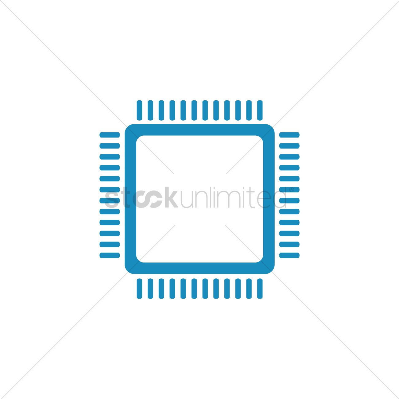 1300x1300 Computer Chip Vector Image