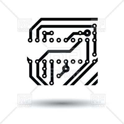 400x400 Computer Chip Icon On White Background Vector Image Vector