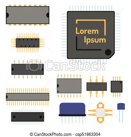 450x470 Computer Chip Technology Processor Circuit Motherboard... Vector