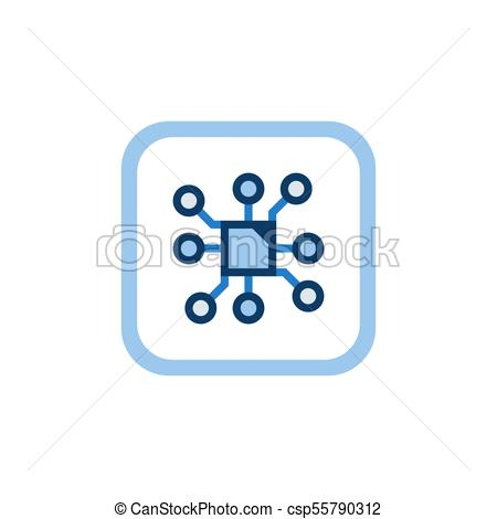 450x470 Computer Chip Vector Flat Concept Icon Or Technology Symbol On