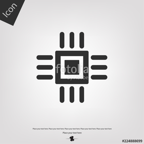 500x500 Computer Chip Vector Icon Stock Image And Royalty Free Vector