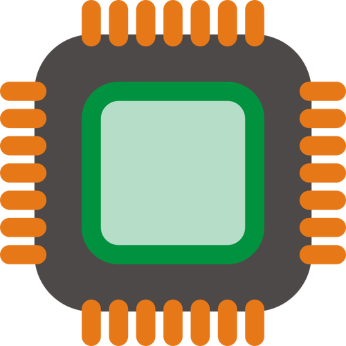 500x500 Generic Computer Chip Vector Image Public Domain Vectors
