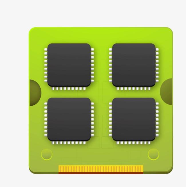 650x651 Green Computer Chip Texture, Green Vector, Computer Vector