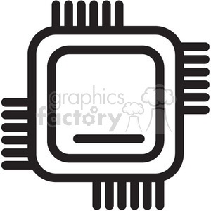 300x300 Royalty Free Cpu Computer Chip Vector Icon 398650 Icon