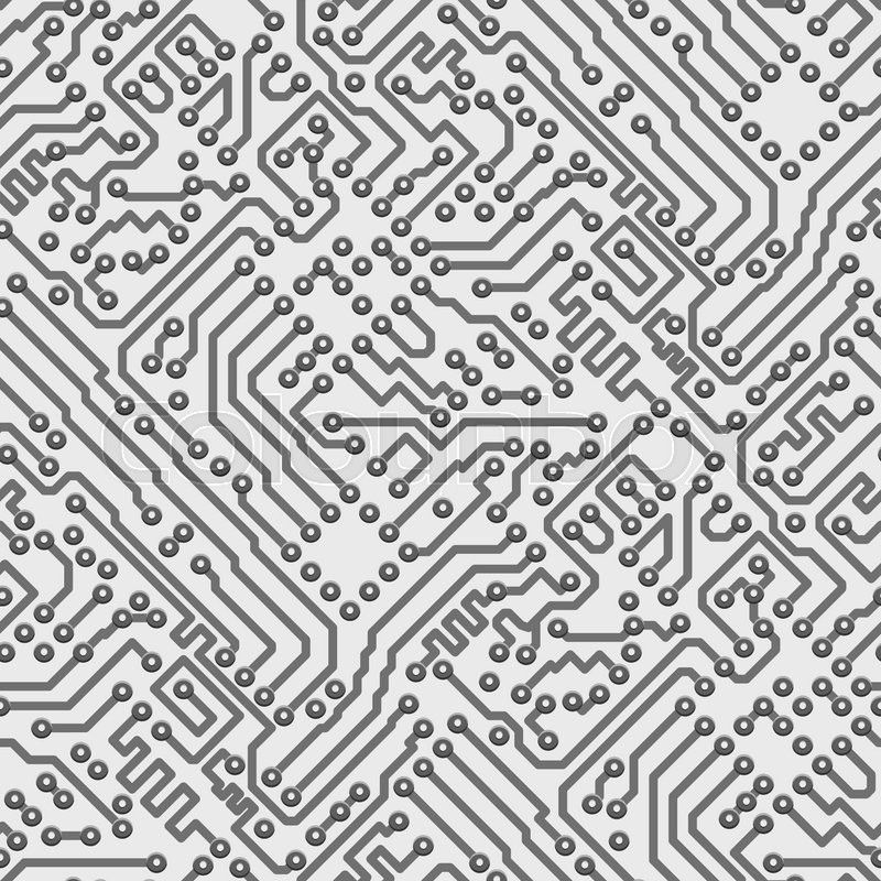 800x800 Circuit Board Vector Computer Seamless Background