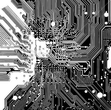 450x449 Computer Circuit Board (Vector) Jeffersonian In 2018
