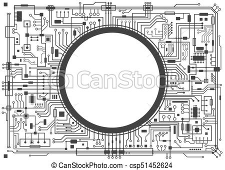 450x340 Computer Circuit Board. Computer Circuit Board With Copy Space