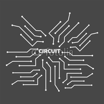 400x400 Computer Circuit Motherboard. Electronic Circuit Vector Background