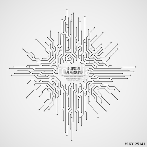 500x500 Computer Motherboard Vector Background With Circuit Board
