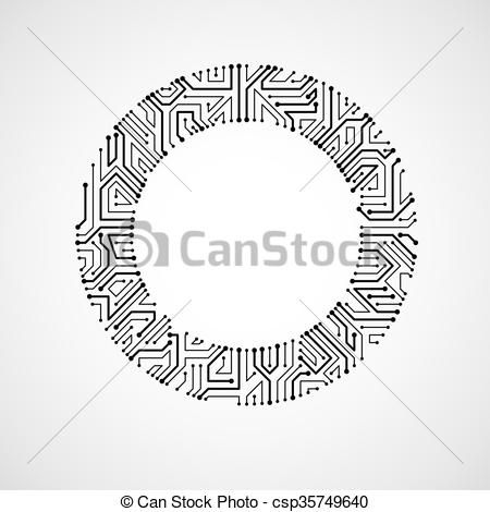 450x470 Eps Vector Of Vector Abstract Computer Circuit Board Illustration