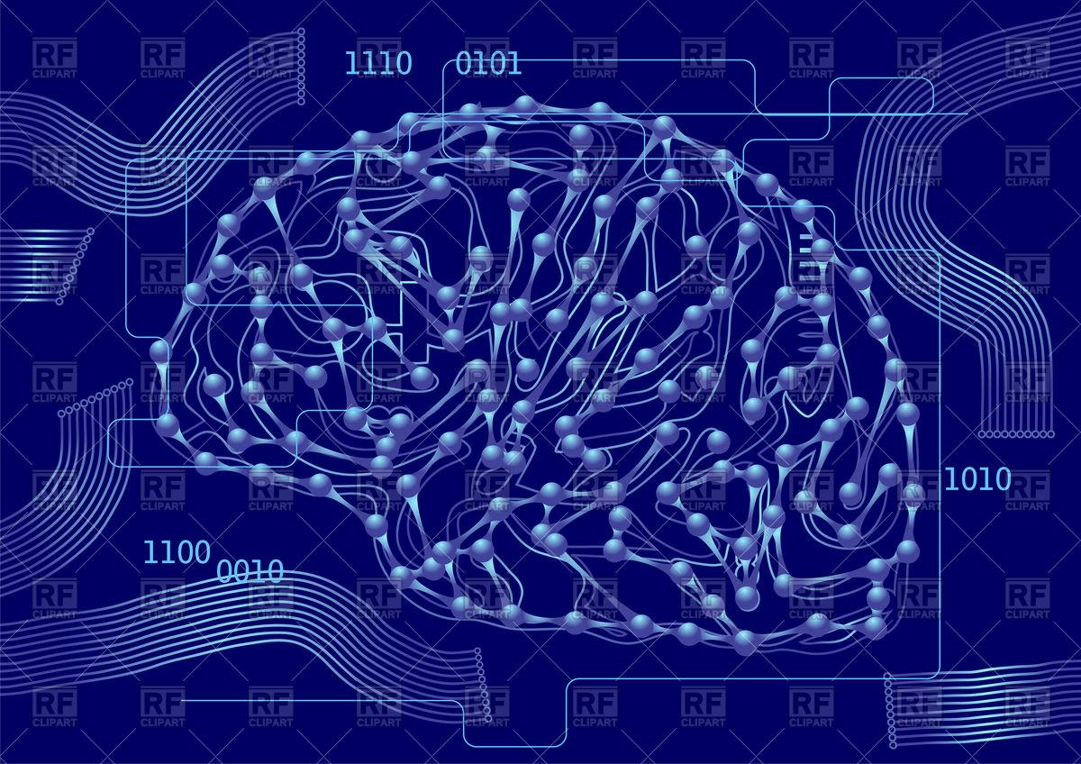 1200x848 Brain As Computer Circuit Board Vector Image Vector Artwork Of