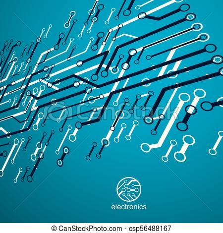 450x470 Vector Abstract Computer Circuit Board Illustration, Technology