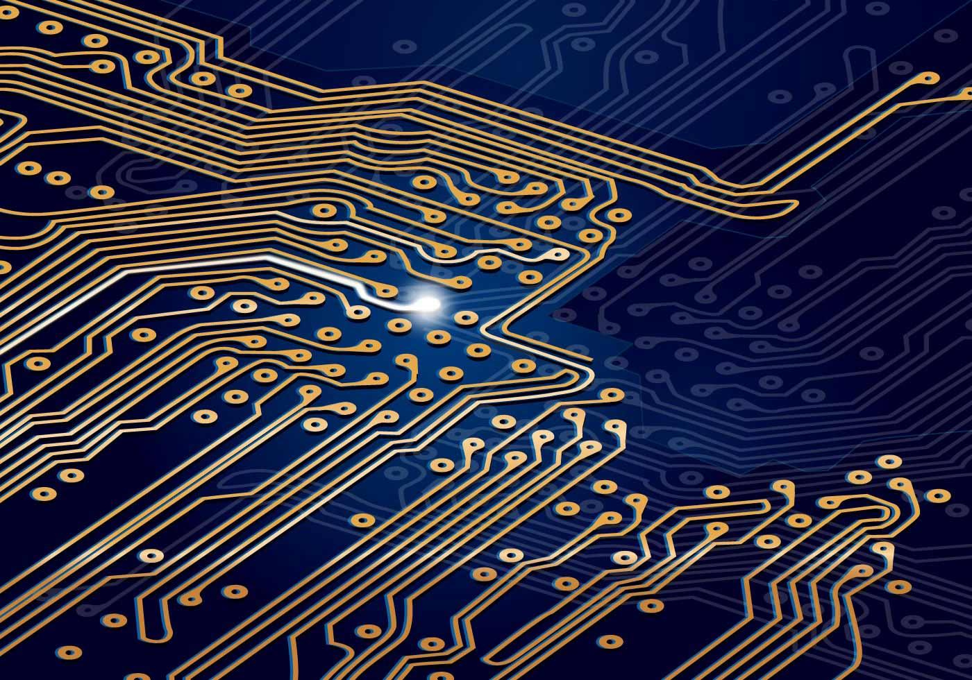 1400x980 Circuit Board Free Vector Art