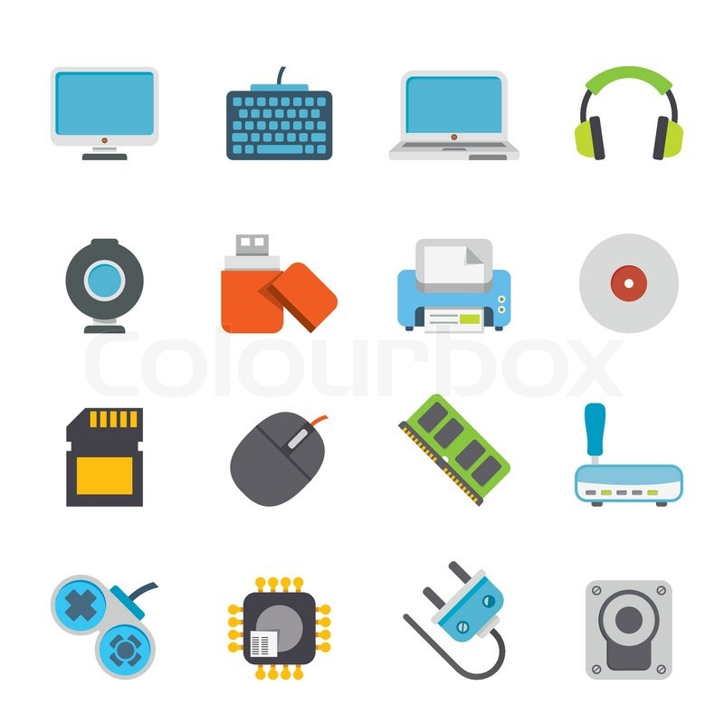 800x800 Computer Peripherals And Accessories Icons