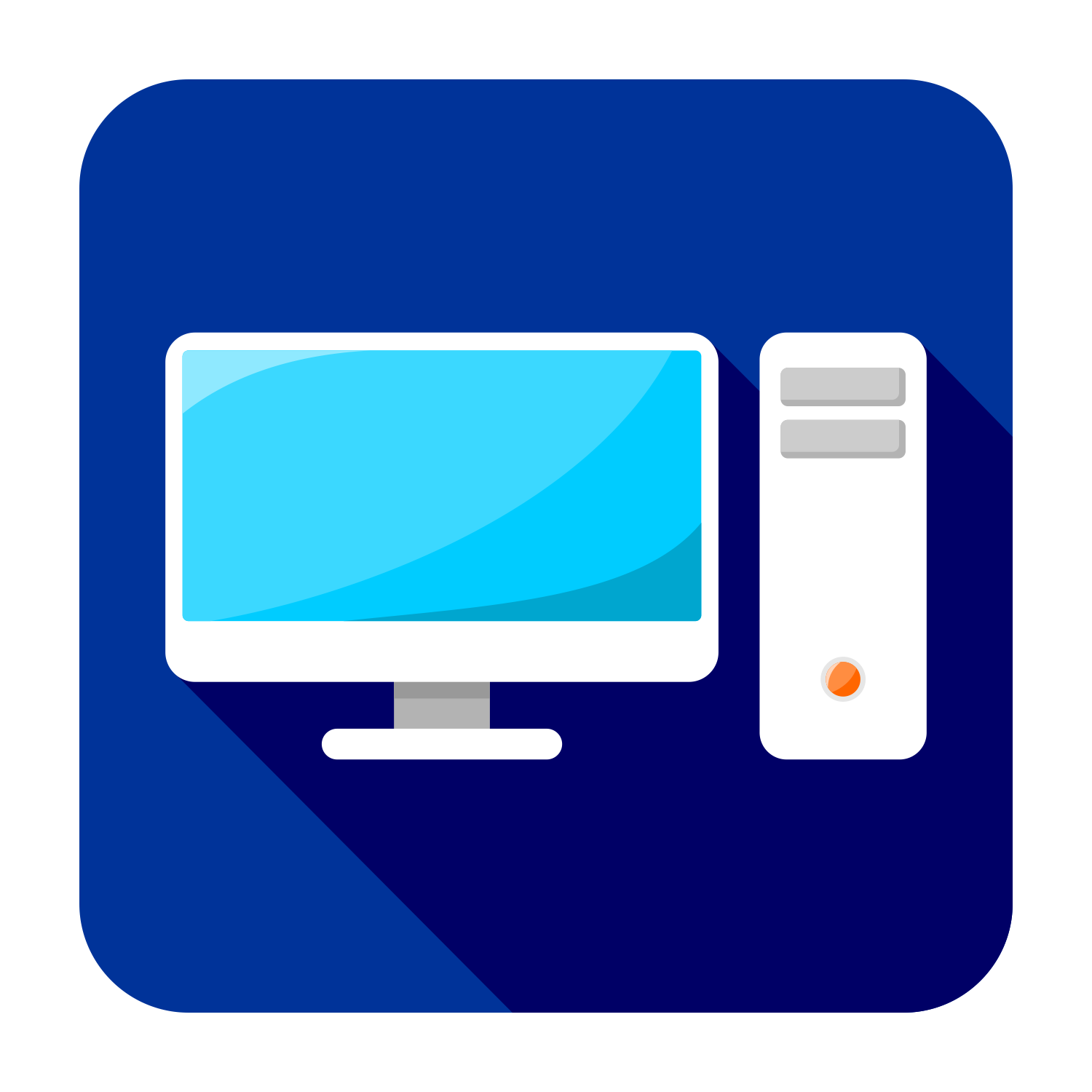 1500x1500 Vector For Free Use Flat Pc Icon