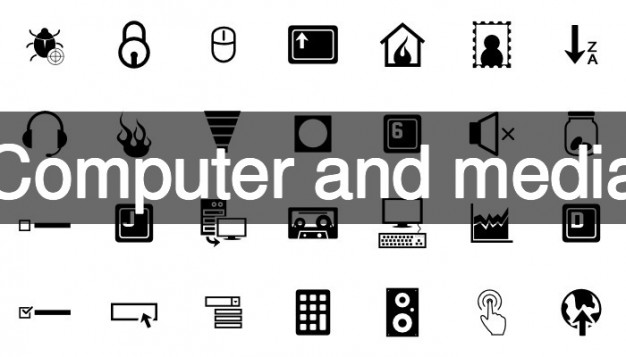 626x357 Computer And Media Icon Pack Vector Free Download