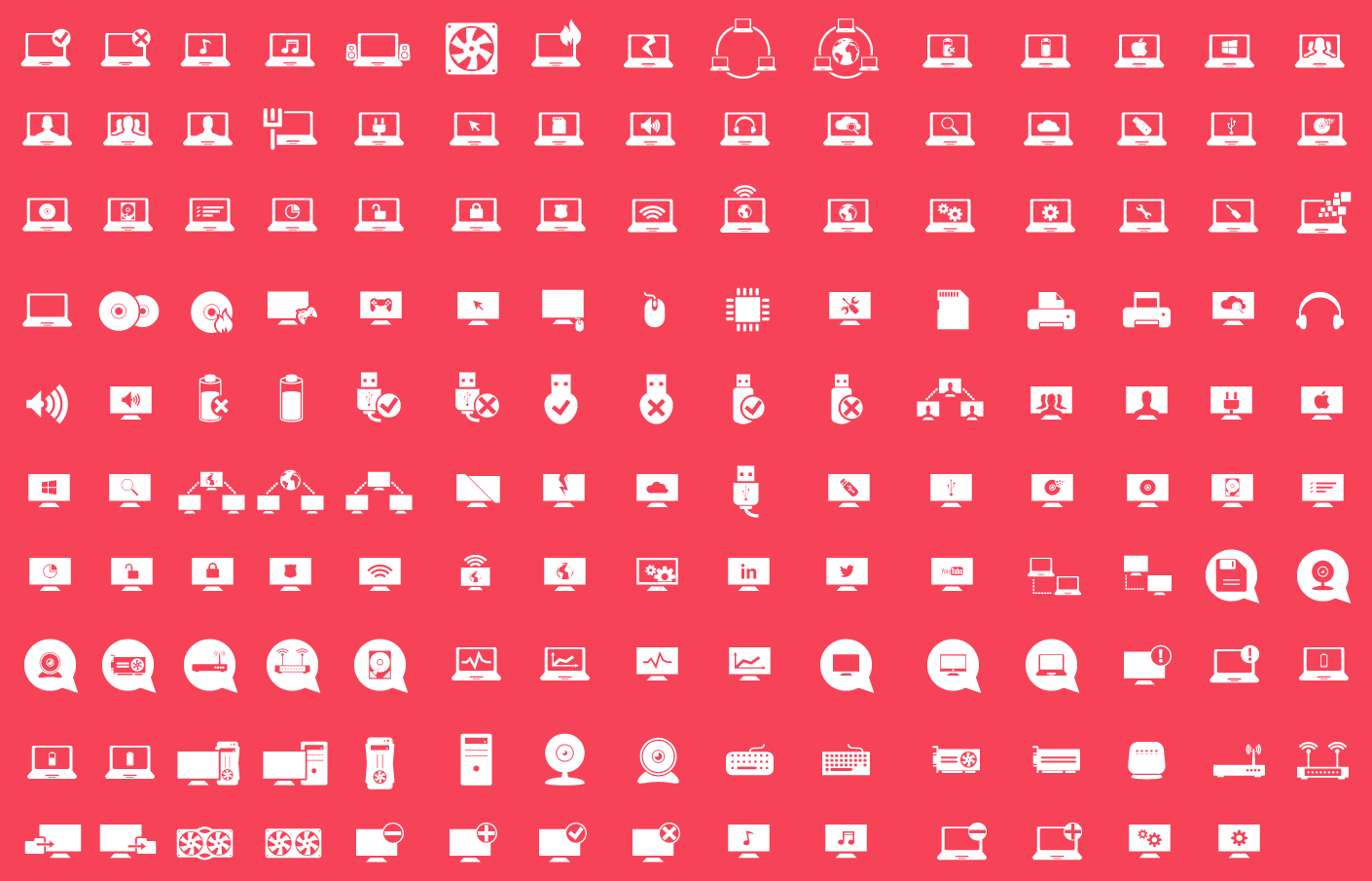 1410x905 150 Free Vector Computer Icons