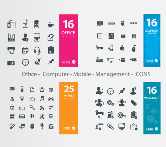 537x478 Office Computer Mobile Management Icons Vector Free Download