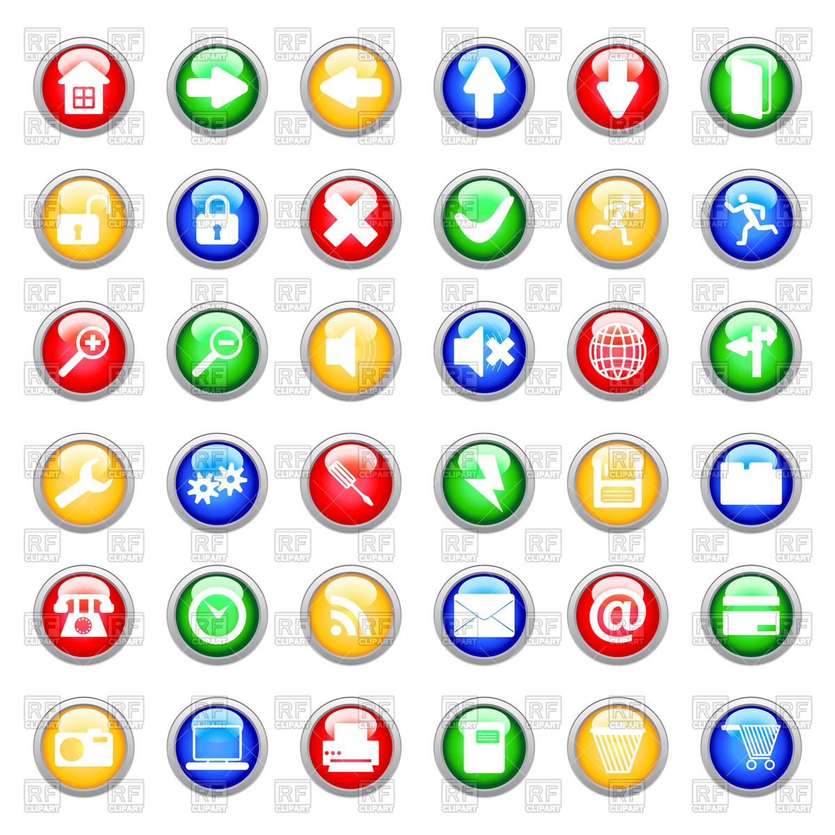 1200x1200 Set Of Computer Icons Vector Image Vector Artwork Of Signs