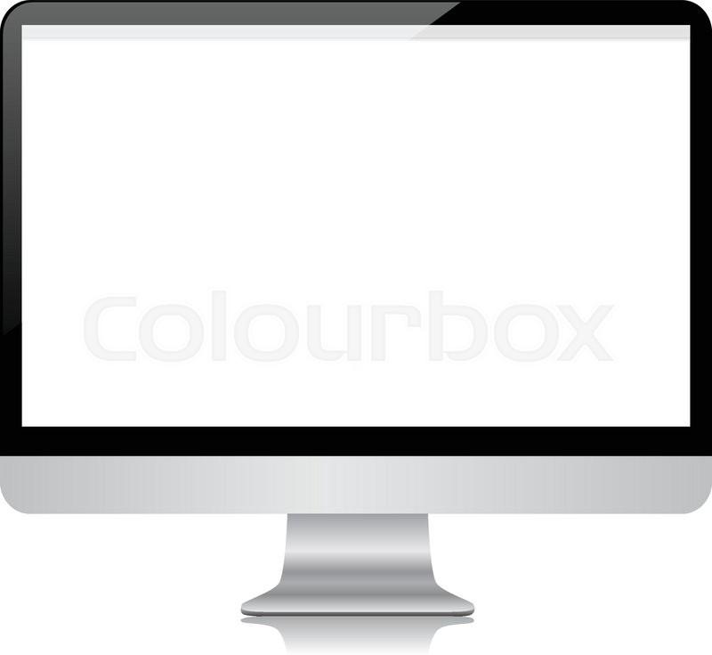 800x735 Modern Desktop Computer Screen Stock Vector Colourbox