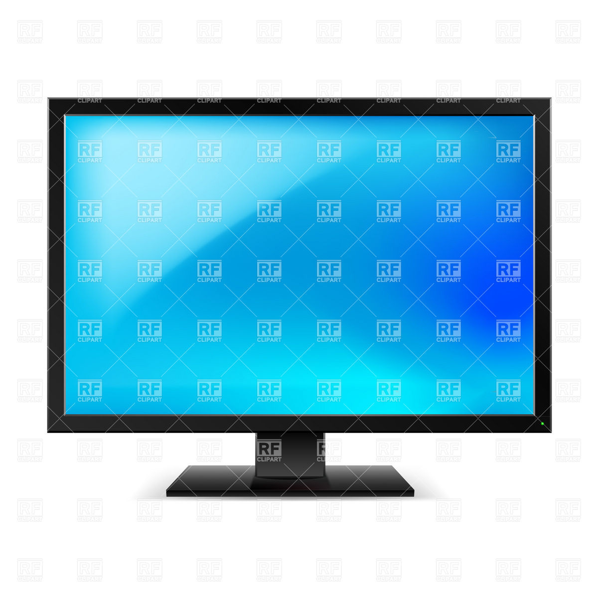 1200x1200 Blank Lcd Tv Set Or Monitor Vector Image Vector Artwork Of