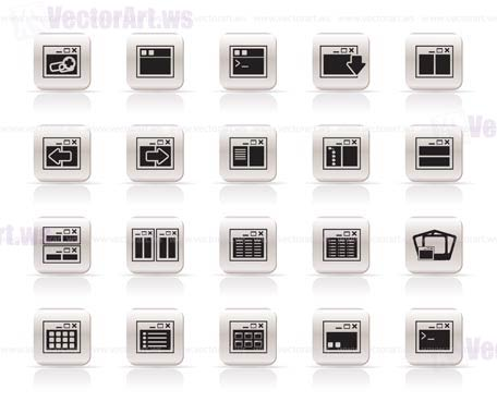 456x369 Application, Programming, Server And Computer Icons Vector Icon