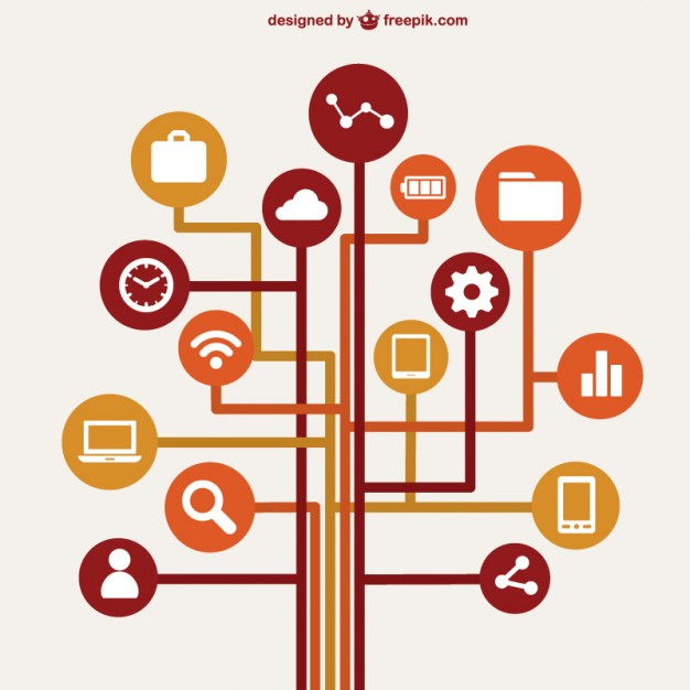 626x626 Computer Network Concept Infographic Vector Free Vector Download