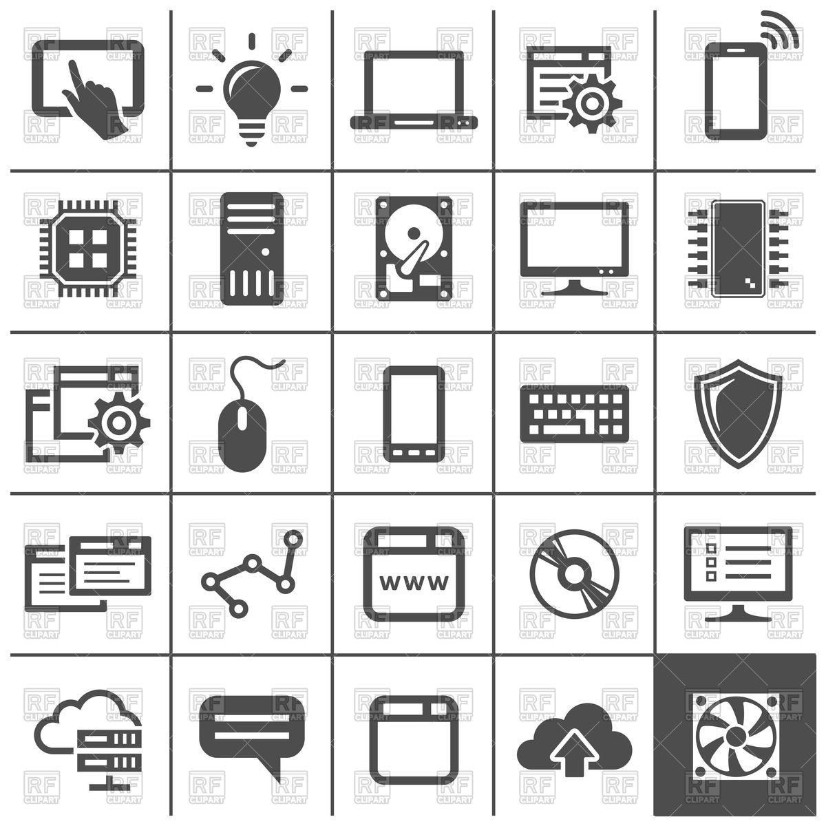 1200x1200 Computer Technology Icons