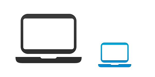 600x300 Laptop Computer Vector Psd Psd Icons