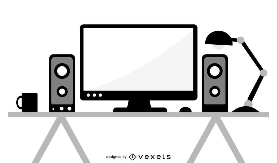 900x529 Desktop Pc Vector